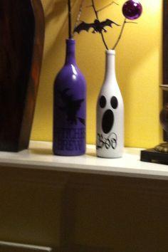 Halloween wine bottled