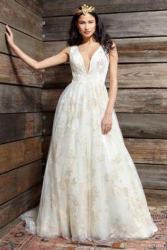 ivy aster bridal spring 2017 sleeveless deep vneck ball gown wedding dress (cherry blossom) mv