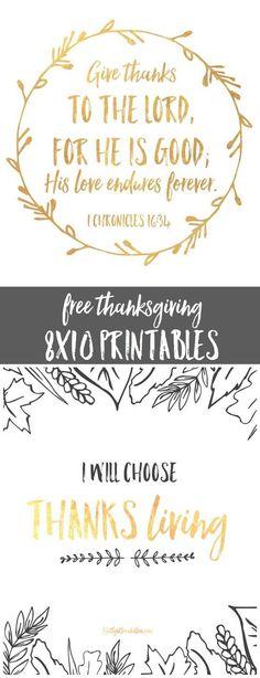 free 8x10 thanksgiving printables