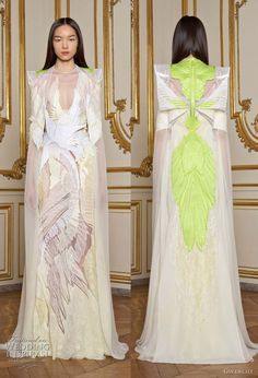 Spring 2011 Givenchy Couture, Riccardo Tisci. Dress with neon green accents