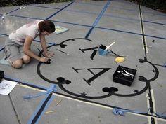 Ideas backyard wedding dance floor patio for 2019 Painting Concrete, Diy Painting, Diy Wedding Dance Floor, Diy Outdoor Weddings, Wedding Backyard, Washable Paint, Chic Wedding, Wedding Ideas, Dream Wedding