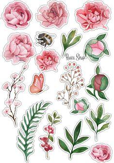 A munkám szabad az Ön számára - 313 fénykép Planner Stickers, Journal Stickers, Scrapbook Stickers, Printable Planner, Printables, Printable Flower, Tumblr Stickers, Cute Stickers, Free Printable Stickers