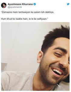 Ayushmann Khurrana loves writing poems and couplets. Here are some Shayaris shared by Ayushmann on social media to fall in love with. Shyari Quotes, Sufi Quotes, Girly Quotes, People Quotes, Lyric Quotes, Qoutes, Love Quotes In Hindi, True Love Quotes, Dear Diary Quotes