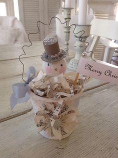 Peat Pot Snowman ornament