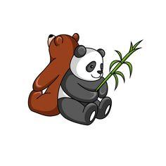 Grizzly Bear And Panda Bear Together Pillow Sham by quachee U Shaped Pillow, We Bare Bears, Panda Bear, Tigger, Scooby Doo, Duvet Covers, Disney Characters, Fictional Characters, Art Prints
