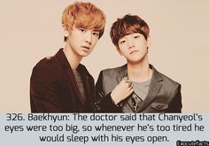 [EXO facts] Baekhyun was probably making this up to tease Chanyeol