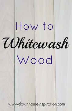 Although Tom Sawyer wasn't a huge fan of whitewashing wood, it has never seemed to lose favor with the DIY and crafting set. In fact, it seems to be bigger than ever right now with