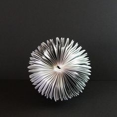 Paper Cog Book Sculpture Black & White Art Modern Home by bookBW, $68.00