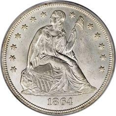 1864 Seated Liberty Dollar
