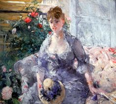 Berthe Morisot - Young Woman Seated on a Sofa, 1879 at New York Metropolitan Art Museum | by mbell1975