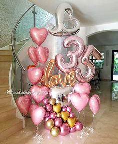 Balloon Decoration Ideas for Birthday Party . 30 New Balloon Decoration Ideas for Birthday Party . 35th Birthday, 30th Birthday Parties, Birthday Party Decorations, Birthday Diy, Birthday Cakes, Balloon Bouquet, Balloon Garland, Balloon Decorations, Deco Ballon