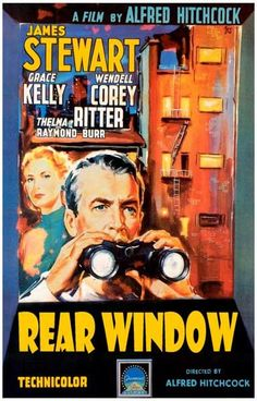 A great movie poster from Alfred Hitchcock's amazing 1954 film Rear Window! Starring Jimmy Stewart, Grace Kelly and Raymond Burr. Ships fast. 11x17 inches. Check out the rest of our thrilling selectio