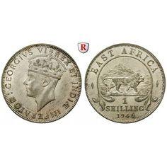 Ostafrika, George VI., Shilling 1920, vz-st: George VI. 1936-1952. Shilling 1920 SA. KM 28.4; vorzüglich-stempelfrisch 30,00€ #coins