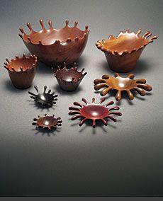 Splash - Danny Kamerath's carved turned bowls - Fine Woodworking Article