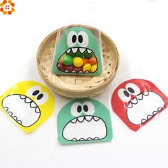 50PCS 7X7CM 3Colors Cute Cartoon Monster Cookie&Candy Bag Self Adhesive Plastic Bags For Biscuits Snack Baking Package Supplies-in Candy Boxes from Home & Garden on Aliexpress.com | Alibaba Group