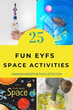 Does your little one love all things space? Here are 25 educational and fun EYFS space activities you can try at home! Perfect for a topic on space :) #hannahandthetwiglets #eyfs #spaceactivities #spacetopic #homelearning #earlyyears