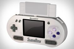 Powered by a 2.5-hour rechargeable battery, the SupaBoy lets you plug in your old SNES cartridges and play on the go using the built-in controls and 3.5-inch LCD, or connect it to your TV via the AV out and plug in two controllers for a retro gaming experience