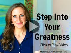 Every day you make decisions that either make you feel small or make you feel great. Step into your greatness with this guided visualization. http://melaniejaderummel.com/video-step-into-your-greatness/