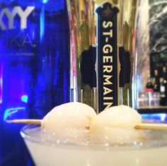 Start your well-deserved weekend with an Eastern spin on a classic cocktail. LYCHEE MARTINI - SKYY Vodka, muddled lychee, St-Germain.