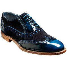 Barker Shoes - Grant Brogues - Blue Hi-Shine & Suede Men Dress, Dress Shoes, Streetwear, Fashion Shoes, Mens Fashion, Inspiration Mode, Well Dressed Men, Men S Shoes, Brogues