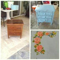 Drawer, Chalk paint & floral oil painting Chalk Paint, Photo Galleries, Drawers, Oil, Rugs, Gallery, Floral, Painting, Home Decor