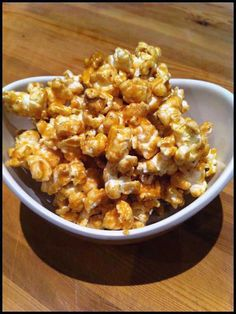 clean eating popcorn. Even though it's clean eating and waaaaay better for you than caramel popcorn it's still a treat :)