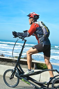 Such a cool way to get some low-impact exercise and still enjoy the outdoors! Plus, it's a ton of fun to ride! The new ElliptiGO Meb 8S versatile has 8 speeds allow you to climb any hill, and the fiber drive arms and a folding steering column make for a lighter ride and easy transport.