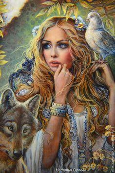 Купить ,,Что же за зверь живет в душе ?,, каменное панно - разноцветный, панно из камня