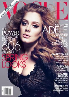 I'm getting to know Adele. So far, I love her. She's gorg on this cover!