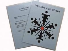 "Strengthen and balance your eyes with the Tibetan Eye Chart. This 2-sided 8.5""x11"" laminated chart displays the eye chart on one side and provides instructions for use on the other.  Fortalezca y equilibre su vista con la Gráfica Tibetana para los Ojos.  Esta lámina de dos caras (8.5""x11"") muestra la gráfica de un lado y provee las instrucciones de uso en el otro."