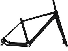 Full Carbon Matt 26er Mountain Bike MTB BSA Cycling Frame And Fork 18' ** You can find out more details at the link of the image.