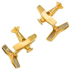 CARTIER Gold 'Airplane' Cufflinks