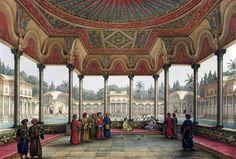 Palace of Muhammad' Ali Pasha at Shubra al-Khaymah , Cairo 1818 by Pascal Xavier Coste - French, 1787-1879 قصر محمد علي باشا في شبرا الخيمه- القاهره 1818