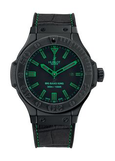 Big Bang King All Black Green 48mm Diver watch from Hublot