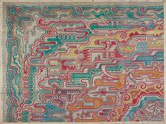 "Carpet Design ""Barcelona""  by Peters, Mechanische Tapijtweverij H.J., 1926. Deventer Musea, CC BY-SA"