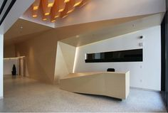 timber reception desk - Google Search