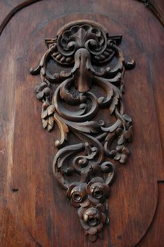 Beautiful Carved Detail on this Door