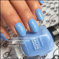 Sally Hansen Crush on Blue Complete Salon Manicure swatches at imabeautygeek.com