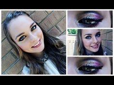 Cranberry & Gold Glitter Makeup Tutorial!