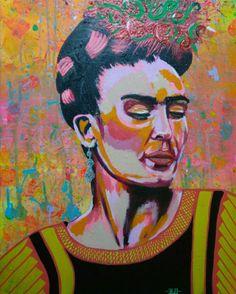 Frida Kahlo Acrilica 50X70
