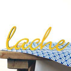 """lache"" Deko Schriftzug aus Holz // wooden lettering by  NOGALLERY via DaWanda.com"