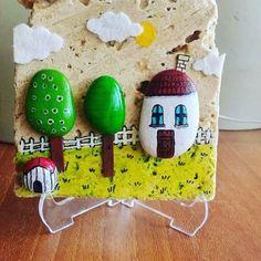 #hediyelik#souvenier#hediyeliktaş#süsesyası#keçe#ev#akrilikboya#resim#bahçe#ağaçlar#tree#instame#instagramers#instago#instagood#taşboyama#taşsüsleme#green#traverten#dream#dreamhouse