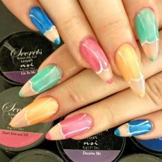 Crayon nail art by jutamartiantart miscellaneous rep in happy fun pencil nails by our nsi educator daniela in ireland nsi hair nail beauty suppliestraining academy nail design created using nsi prinsesfo Image collections