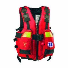 Mustang Survival Swift Water Rescue Vest, Red, Medium