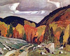 Road At Yantha Lake | A J Casson | Oil painting