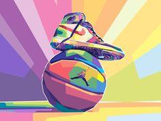 Sneakers Wallpaper, Shoes Wallpaper, Nike Wallpaper Iphone, Cartoon Wallpaper, Illustration Pop Art, Pop Art Poster, Nike Design, Gallery Of Modern Art, Pinturas Disney