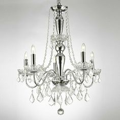 Gallery Royal Collection 5-Light Chandelier with Crystals - BedBathandBeyond.com