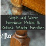 to rejuvenate wood furniture:  3/4 cup vegetable or olive oil about 1/4 cup white or apple cider vinegar  mix together and dip a rag into the mixture. wipe  furniture down with it. it will make furniture look nearly new again. use as often as you desire.