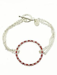 Red Ring Link Bracelet from Helen's Jewels