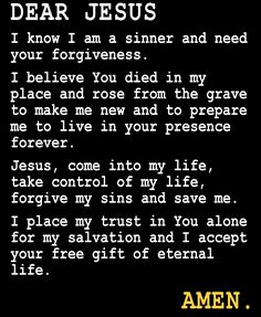 How to be saved Faith Bible, Faith Prayer, Believe In You, Love You, Salvation Prayer, Bible Teachings, Everlasting Life, Forgive Me, Jesus Loves You